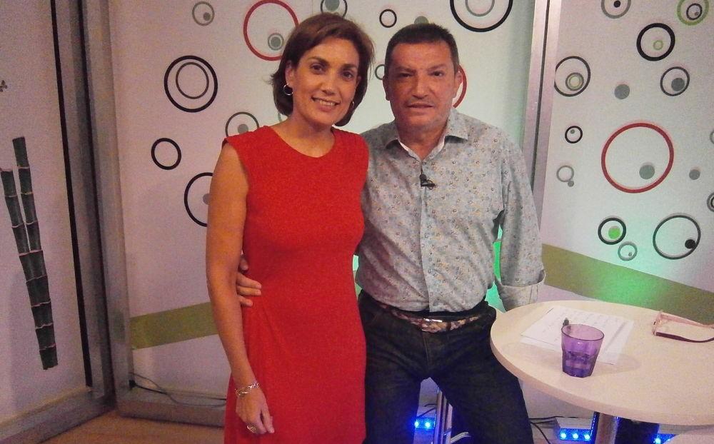 Belén Rincón y Pepe Llorca en el programa Oxigénate de Información TV.