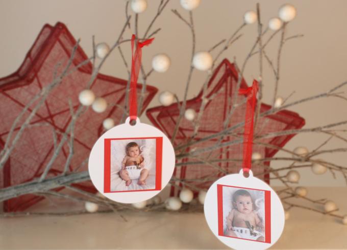 Bolas de Navidad con foto integrada