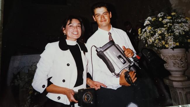 Belén Rincón y su marido en reportaje