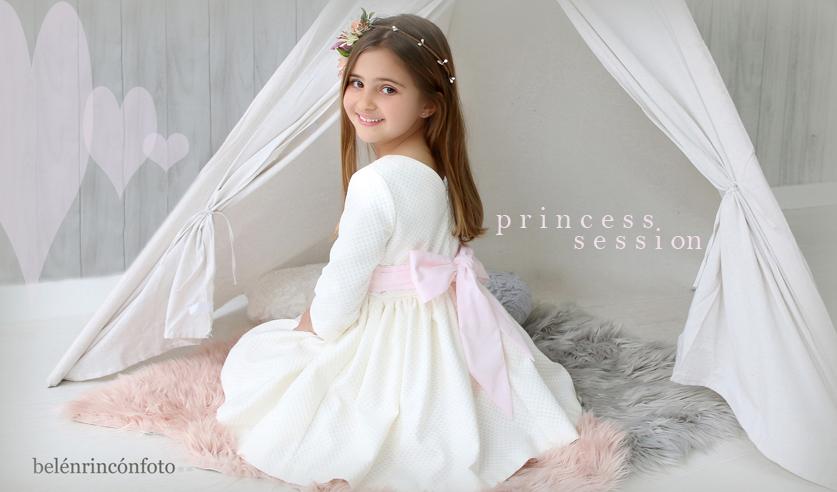 Sesión fotográfica Princesas por un día.