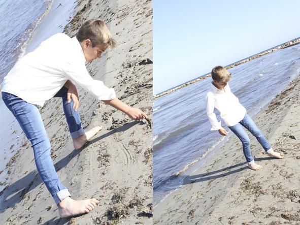 Niño comunion en playa